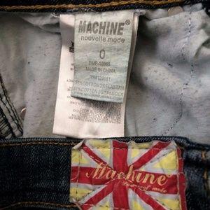 Machine Jeans - Machine Jeans Skinny Distressed Ripped Blue Denim